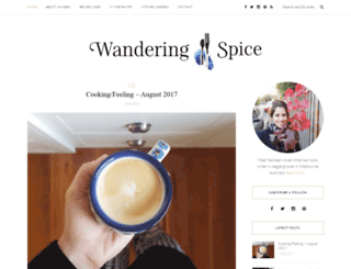 wanderingspice.com screenshot
