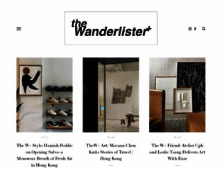 wanderlister.com screenshot