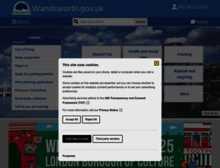 wandsworth.gov.uk screenshot