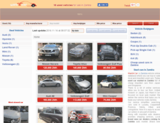 wantacar.co.zm screenshot