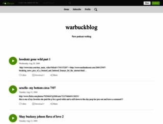 warbuckblog.podbean.com screenshot