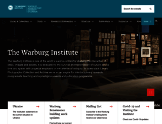 warburg.sas.ac.uk screenshot