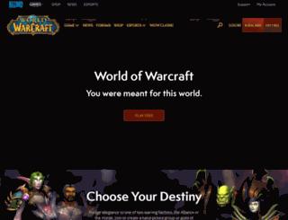 warcraft.com screenshot