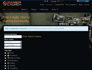 warders.guildlaunch.com screenshot