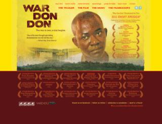 wardondonfilm.com screenshot