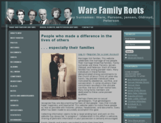 warefamilyroots.com screenshot