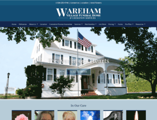 warehamvillagefuneralhome.com screenshot