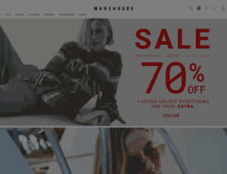 warehouse.co.uk screenshot