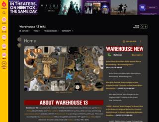 warehouse13.wikia.com screenshot