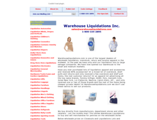 warehouseliquidations.com screenshot
