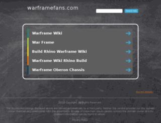 warframefans.com screenshot
