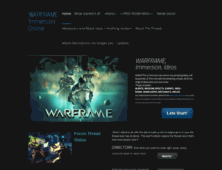 warframeimmersiononline.weebly.com screenshot