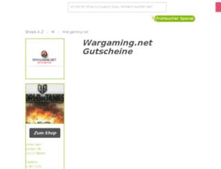 wargaming.gutscheincodes.de screenshot
