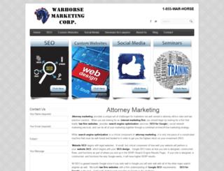 warhorsemarketing.com screenshot