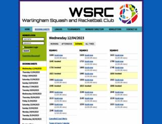 warlinghamsquashandracketball.mycourts.co.uk screenshot