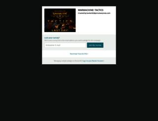 warmachine-tactics.backerkit.com screenshot