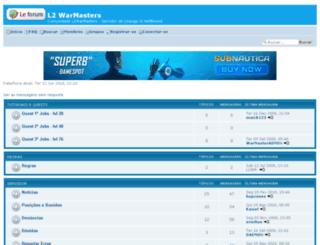 warmasters.forumsline.com screenshot