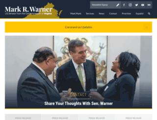 warner.senate.gov screenshot