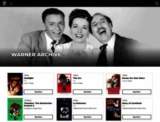 warnerarchive.com screenshot