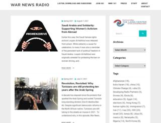 warnewsradio.org screenshot
