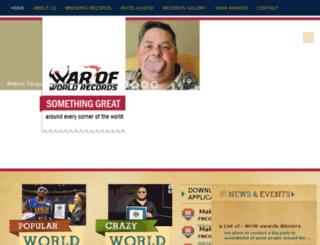 warofworldrecords.com screenshot