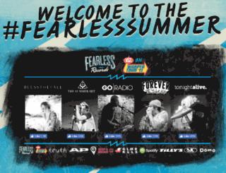 warpedtour.fearlessrecords.com screenshot