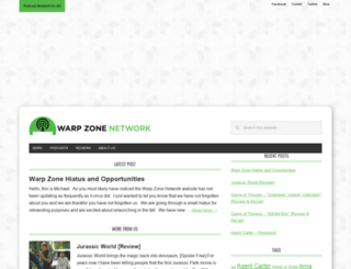 warpzonenetwork.com screenshot