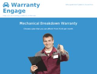 warrantyengage.co.za screenshot