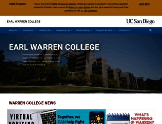 warren.ucsd.edu screenshot