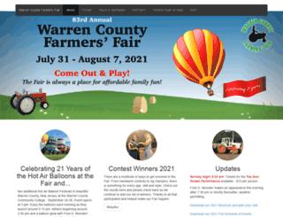 warrencountyfarmersfair.org screenshot