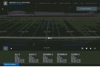 warrenhills.org screenshot