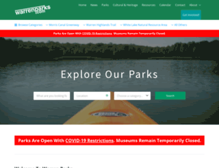 warrenparks.com screenshot