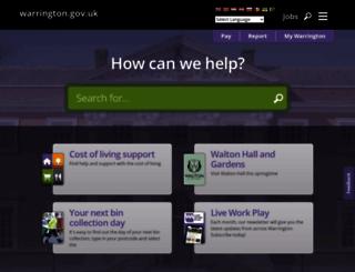 warrington.gov.uk screenshot