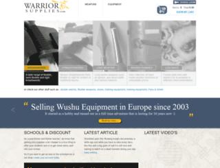 warrior-supplies.com screenshot