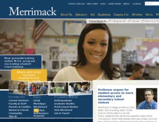 warrior.merrimack.edu screenshot