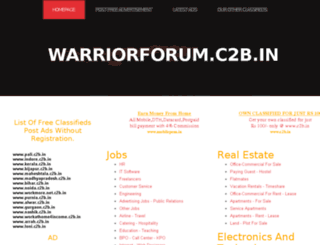 warriorforum.c2b.in screenshot