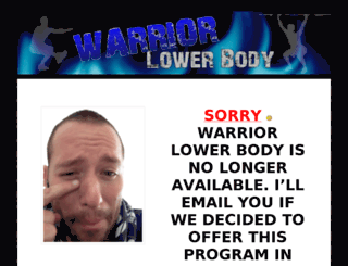 warriorlowerbody.com screenshot