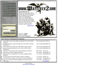 warriors2.com screenshot