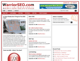 warriorseo.com screenshot