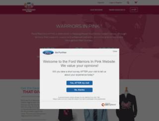 warriorsinpink.ford.com screenshot