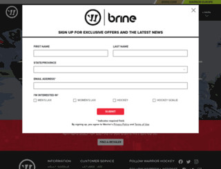 warriorsports.com screenshot