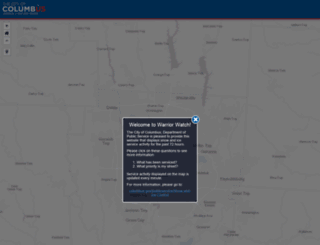 warriorwatch.columbus.gov screenshot