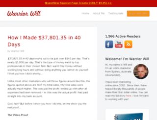 warriorwill.com screenshot
