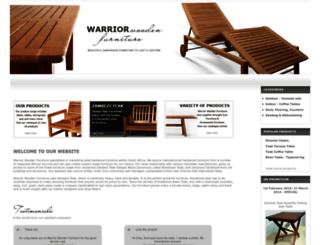 warriorwoodenfurniture.co.za screenshot