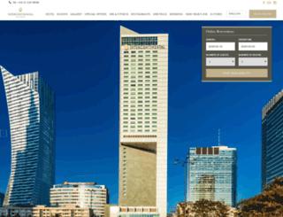 warsaw.intercontinental.com screenshot