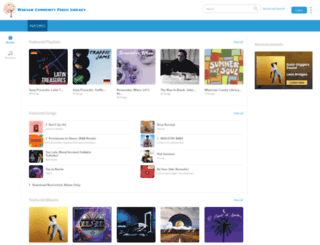 warsawlibrary.freegalmusic.com screenshot