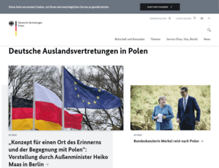 warschau.diplo.de screenshot