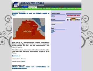 warsintheworld.com screenshot