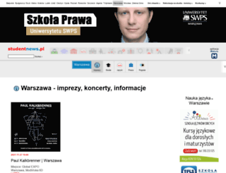 warszawa.studentnews.pl screenshot