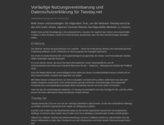 warteschlange.twoday.net screenshot